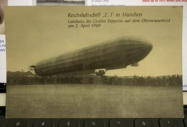 Antique Zeppelin postcard