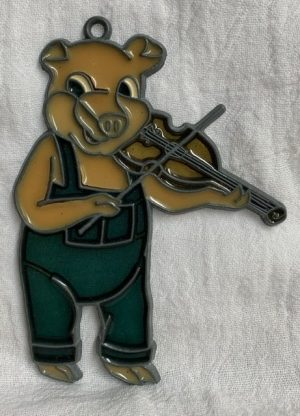 Musical pig suncatcher