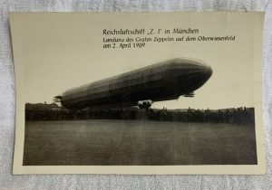 Photo zeppelin postcard